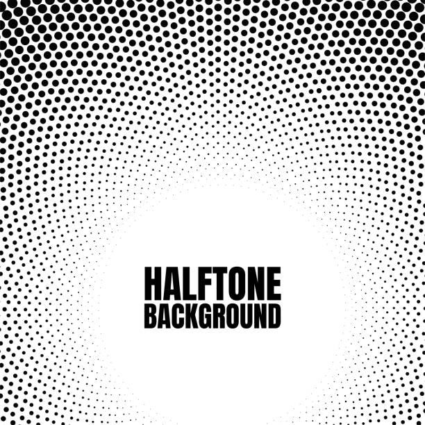 Halftone circle gradient background Modern look for business or comic texture. vector art illustration