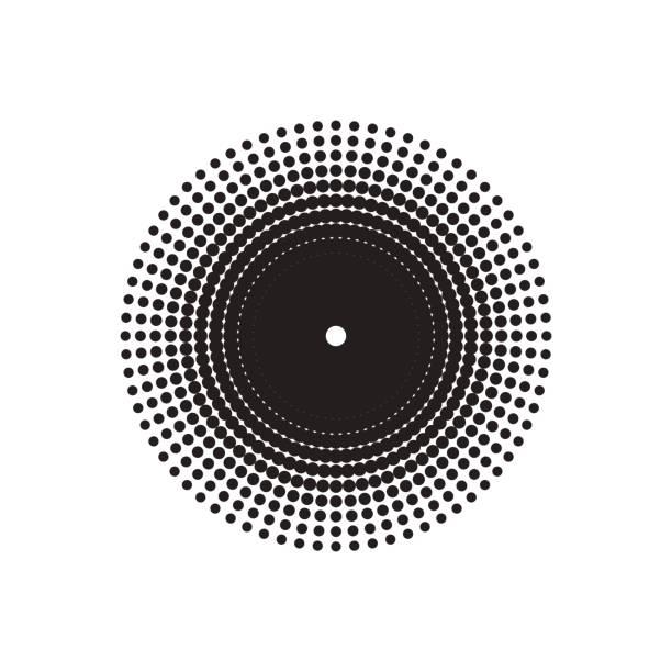 Halbton-Kreis-Vektor. – Vektorgrafik