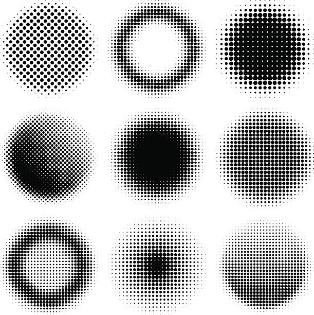 halftone design elements - half tone stock illustrations, clip art, cartoons, & icons