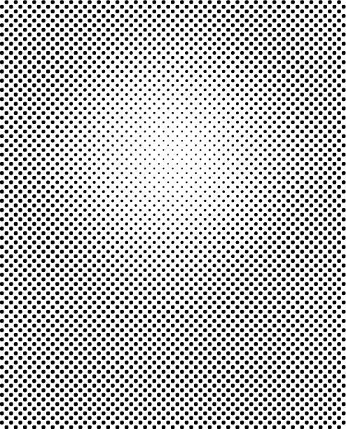 illustrazioni stock, clip art, cartoni animati e icone di tendenza di halftone dot abstract background - gradazione mezzo tono