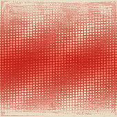 Vector of color halftone dot pattern with grunge textured background. EPS AI 10 file format.