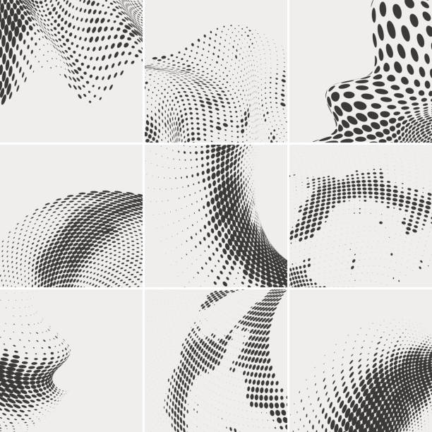 Vectores de Abstract Square Espiral Blanco Y Negro De Patrones De ...
