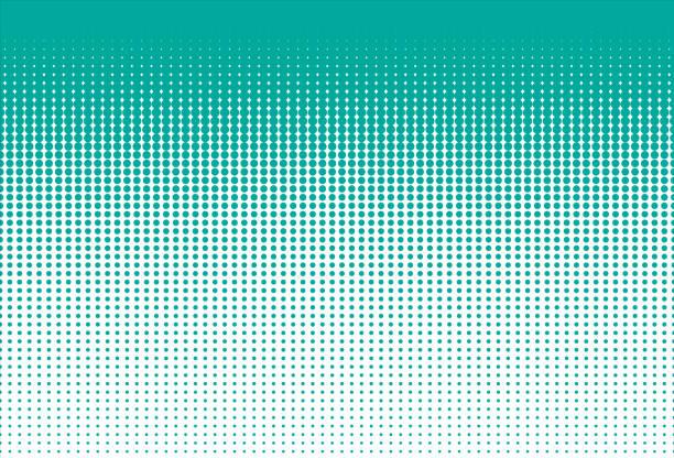 Rasterpunkte. Gepunktete Farbverlauf. – Vektorgrafik