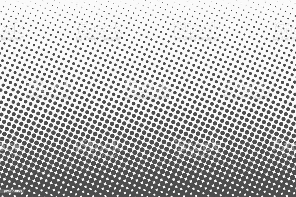 Halftone dots. Monochrome vector texture background for prepress, DTP, comics, poster. Pop art style template vector art illustration