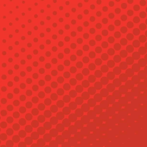 Rasterpunkte auf rotem Grund. – Vektorgrafik