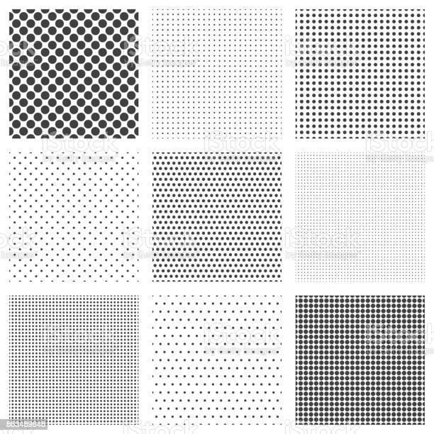Halftone dots seamless pattern set vector id863489648?b=1&k=6&m=863489648&s=612x612&h=l2jnxdjkqfmzvodjzdkgd2g47wifgp6rq 2cdiu edq=