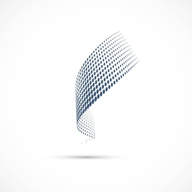 halbton-punkte-vektor-symbol - verdreht stock-grafiken, -clipart, -cartoons und -symbole