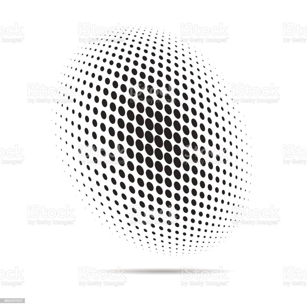 halftone dots vector art illustration