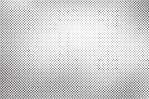 illustrazioni stock, clip art, cartoni animati e icone di tendenza di halftone dots vector - gradazione mezzo tono
