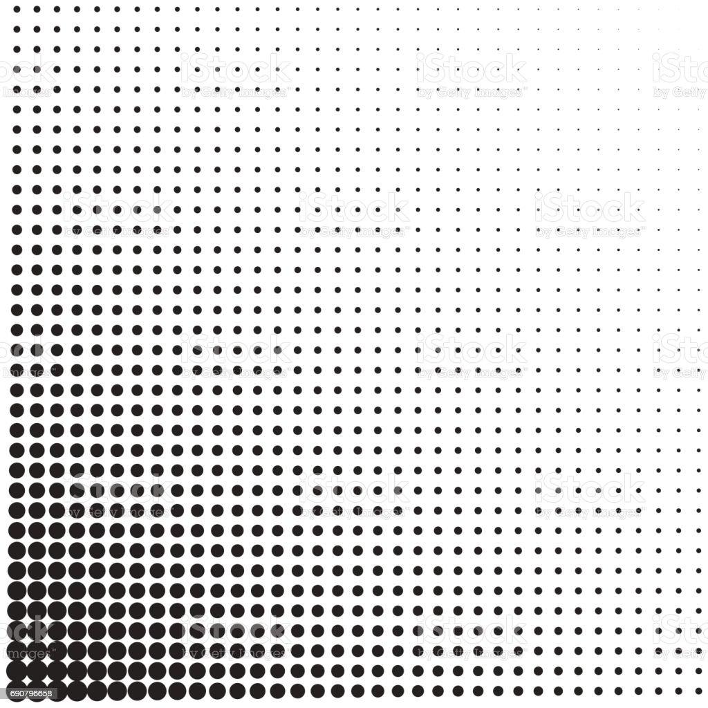 Halftone dotted vintage retro gradients pattern. Monochrome pop art vector illustration