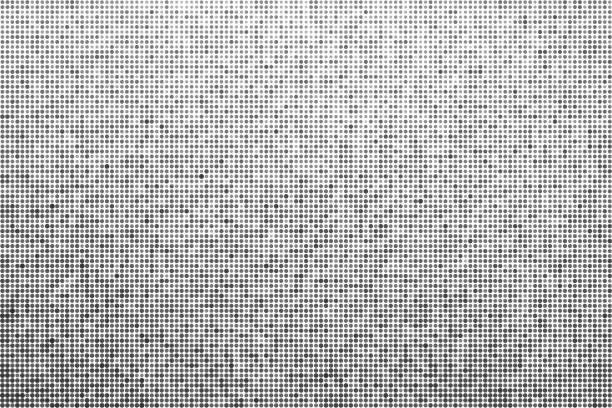 Halbton Effekt Hintergrund. Monochrom punktiert Hintergrund – Vektorgrafik