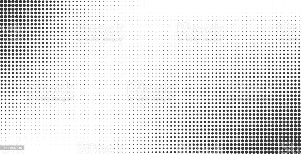 Halftone effect vector background