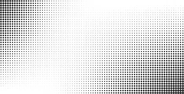 Halftone effect vector background Halftone effect vector background. Monochrome dotted gradient monochrome stock illustrations