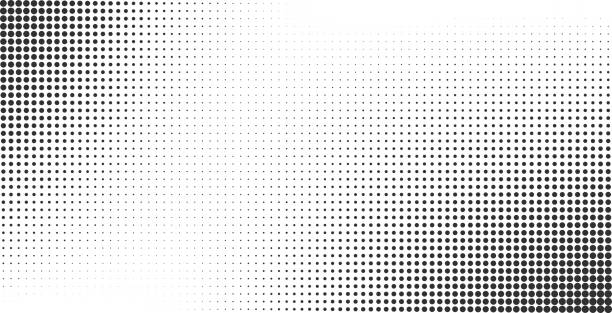 Halftone effect vector background Halftone effect vector background. Monochrome dotted gradient multi layered effect stock illustrations
