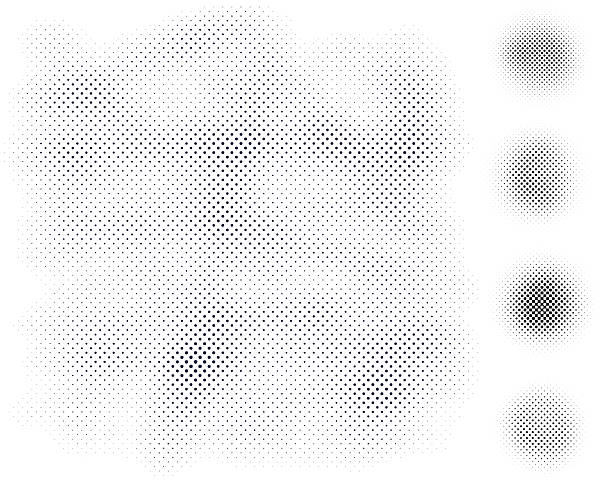Halftone Elements Halftone pattern background and design elements. bad condition stock illustrations