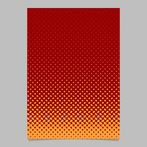 halbton ellipse muster vorlage seitengestaltung - vektor-broschüre-hintergrund - digitale verbesserung stock-grafiken, -clipart, -cartoons und -symbole