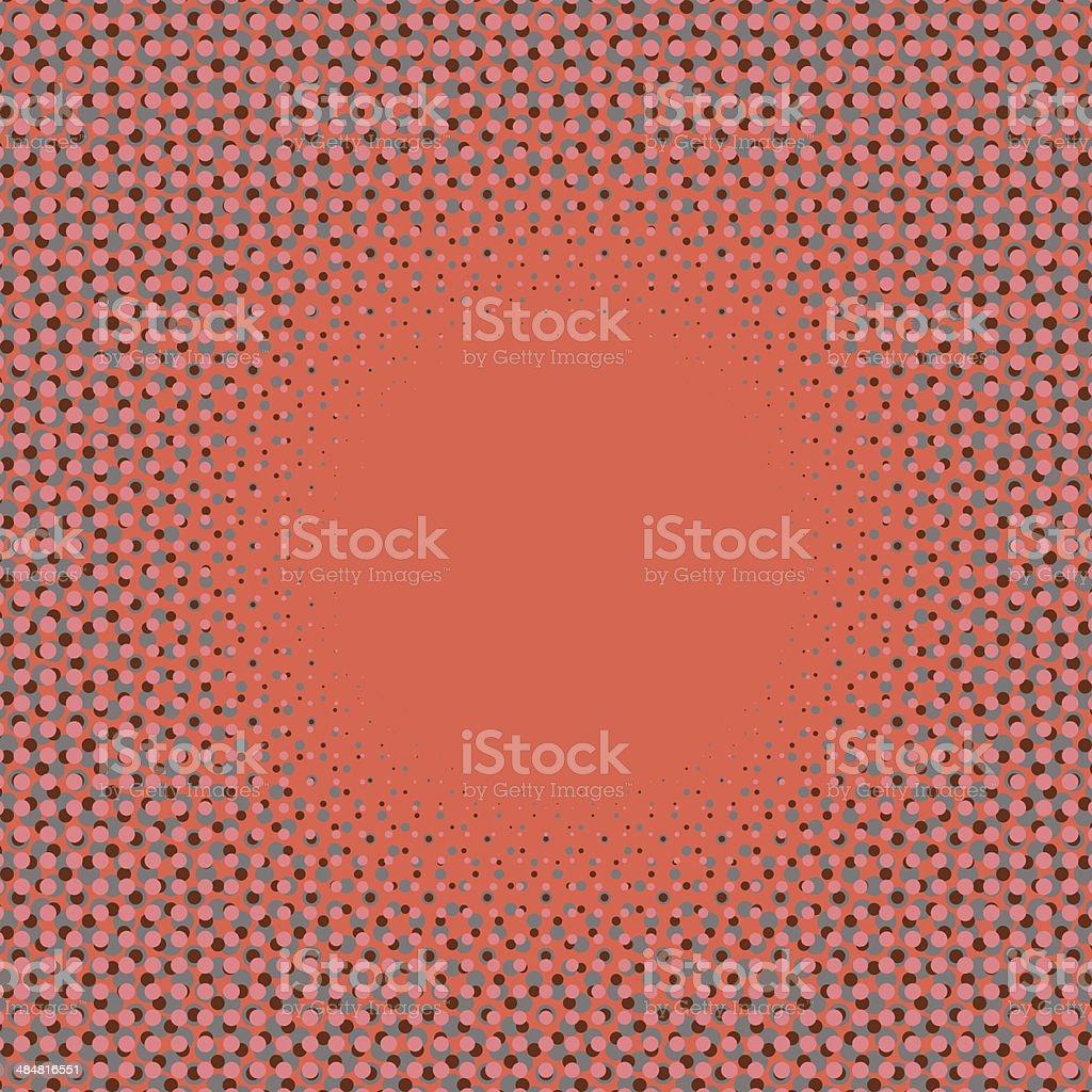 halftone frame pattern royalty-free stock vector art