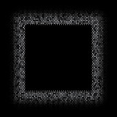 Square Shaped Halftone Frame in Vector. Dotted Background