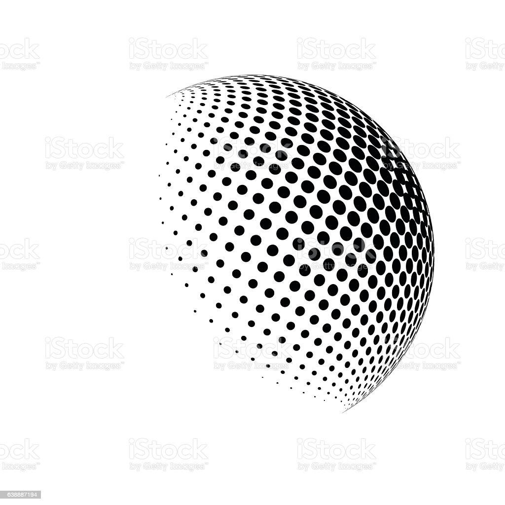 halftone globe logo  vector symbol icon design. - ilustración de arte vectorial