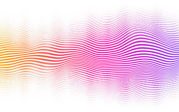 Halftone Gradient Background Vector vibrant background with blending lines and dots. Halftone gradient background. music stock illustrations