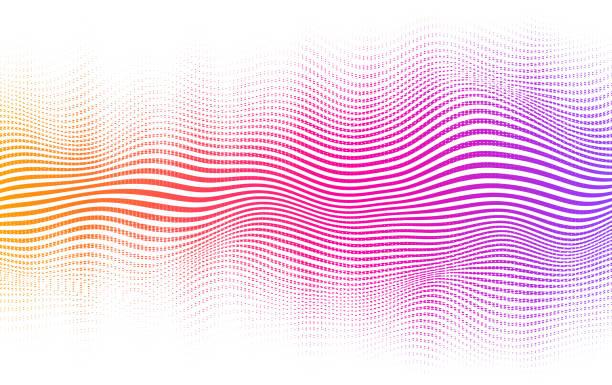 illustrations, cliparts, dessins animés et icônes de contexte halftone gradient - musique