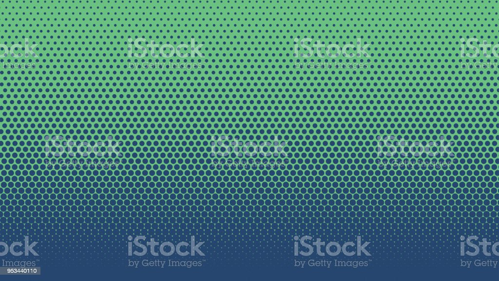 Halftone Gradient Dots Background Vector Illustration Blue
