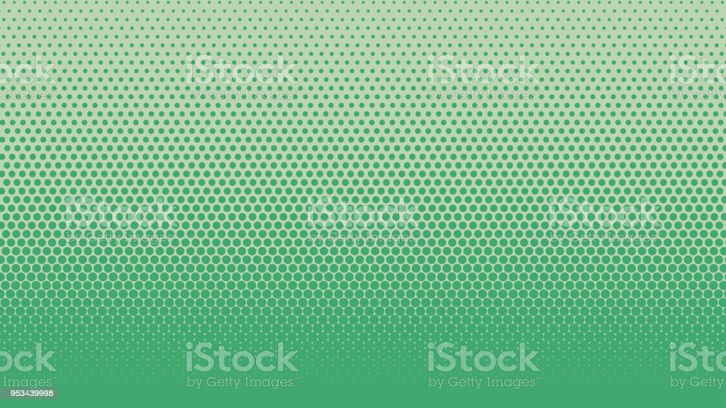 ハーフトーン グラデーション ドット背景ベクトル イラスト緑濃い点在