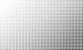 Halftone gradient vector background. Square dots halftone