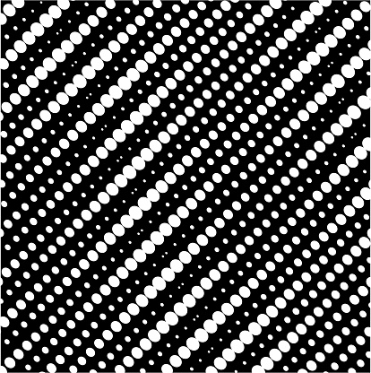 Halftone gradient white circle dots texture isolated on background.