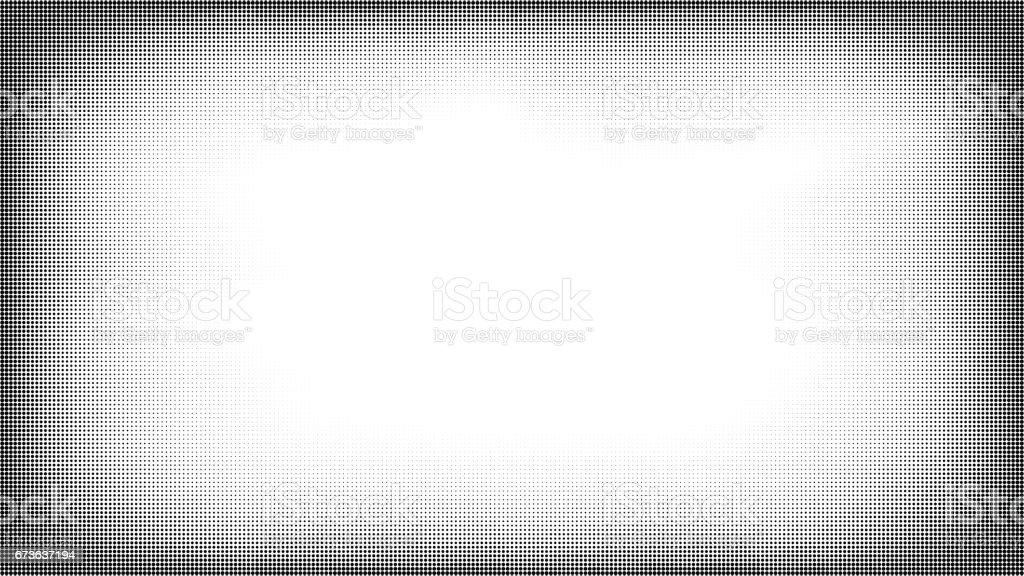 Trame de demi-teintes grunge pop art - Illustration vectorielle