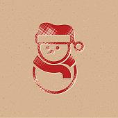 Halftone Icon - Snowman