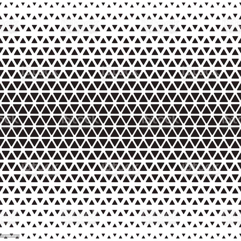 Halftone monochrome geometric pattern vector art illustration