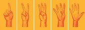 Halftone Number Fingers