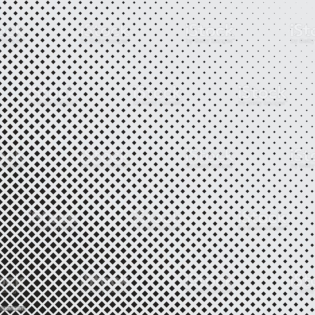 halftone of rhombuses with diagonal orientation vector art illustration