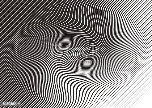 Halftone Pattern, Abstract Background of rippled, wavy lines