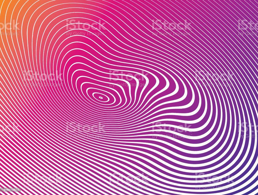 ハーフトーン パターン、波状、波状ラインの抽象的な背景 - S字形のロイヤリティフリーベクトルアート