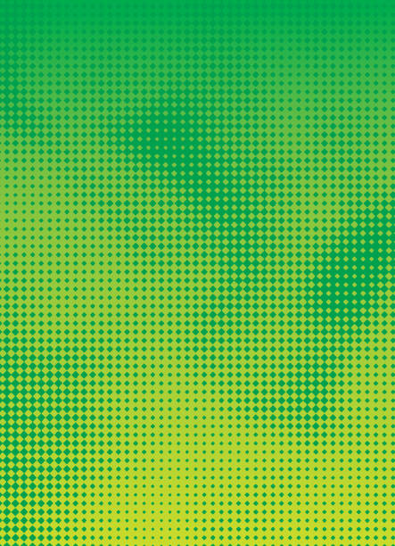 halftone pattern abstract background - green color stock illustrations