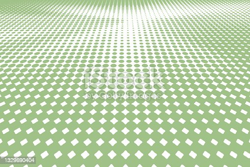 istock Halftone Pattern abstract background with perspective 1329690404