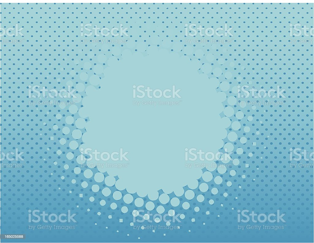halftone pattern background blue vector art illustration