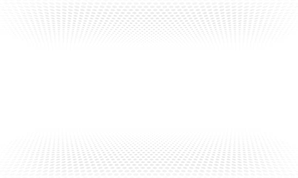 Halftone pattern background or vector abstract dot wave gradient backdrop Halftone pattern background or vector abstract dot wave gradient backdrop white color stock illustrations
