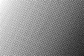 Halftone pattern background, vector halftone dots texture abstract backdrop.
