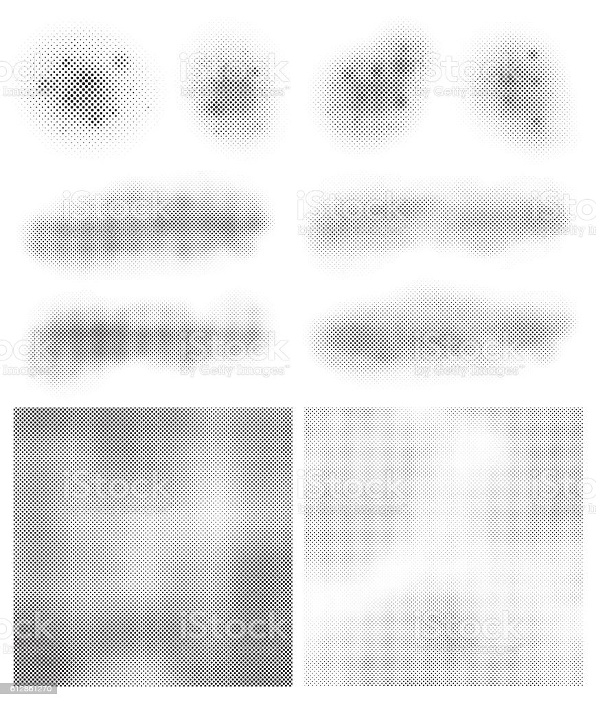 Halftone Pattern Design Elements vector art illustration