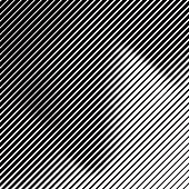 Line art halftone pattern gradient with diamond shape. Isolated on white.