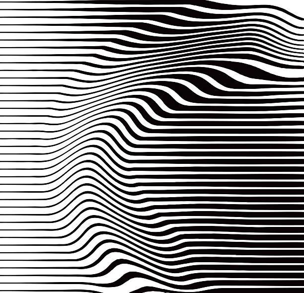 halbton muster von wellenförmig und geschwungene linien - landscape crazy stock-grafiken, -clipart, -cartoons und -symbole