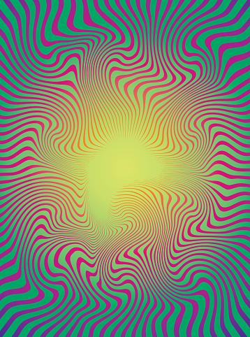 Halftone Pattern Rippled; Wavy Lines