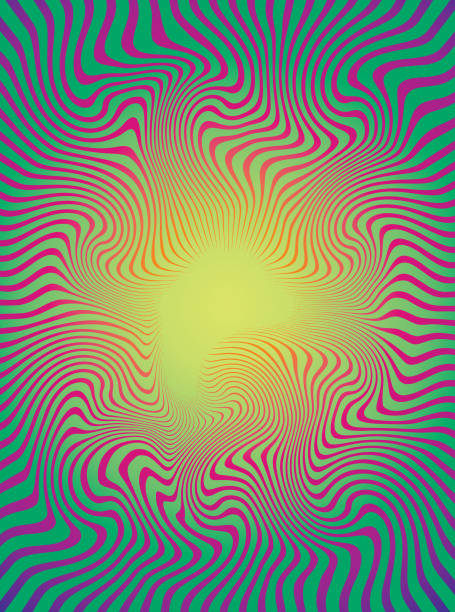 Halftone Pattern Rippled; Wavy Lines Halftone Pattern Rippled; Wavy Lines line art psychedelic stock illustrations