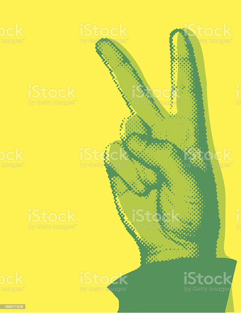 Halftone Peace Sign vector art illustration