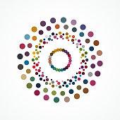 Halftone Polka dots Circle pattern