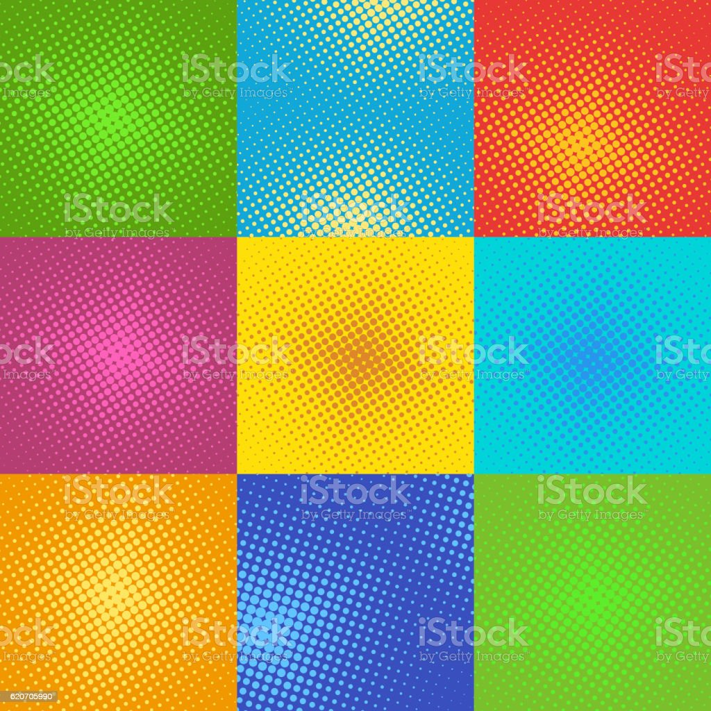 Halftone pop art background vector vector art illustration