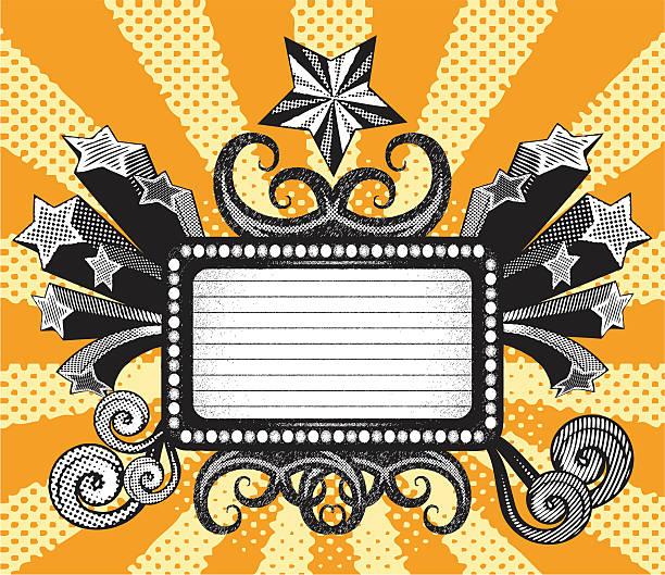halftone retro banner vector art illustration